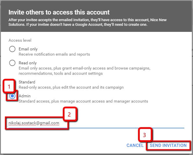 Sådan giver du adgang til din Google Ad konto til Dit Online Visitkort