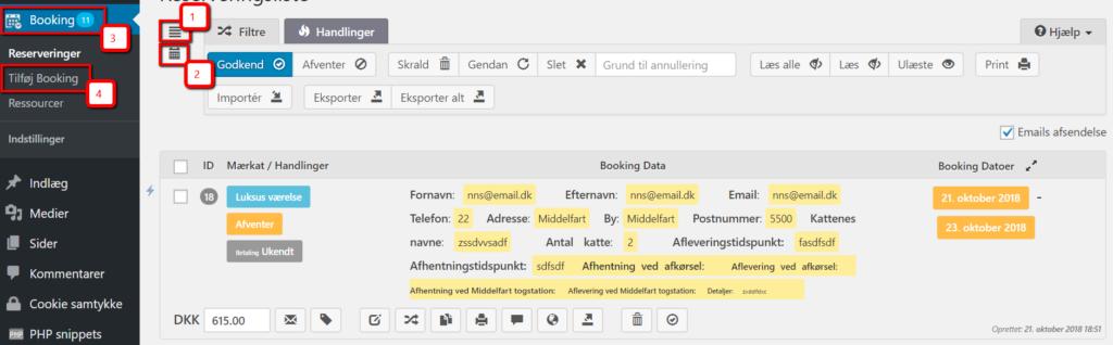 Sådan tilføjer du selv en booking i en billig WordPress hjemmeside lavet af Dit Online Visitkort
