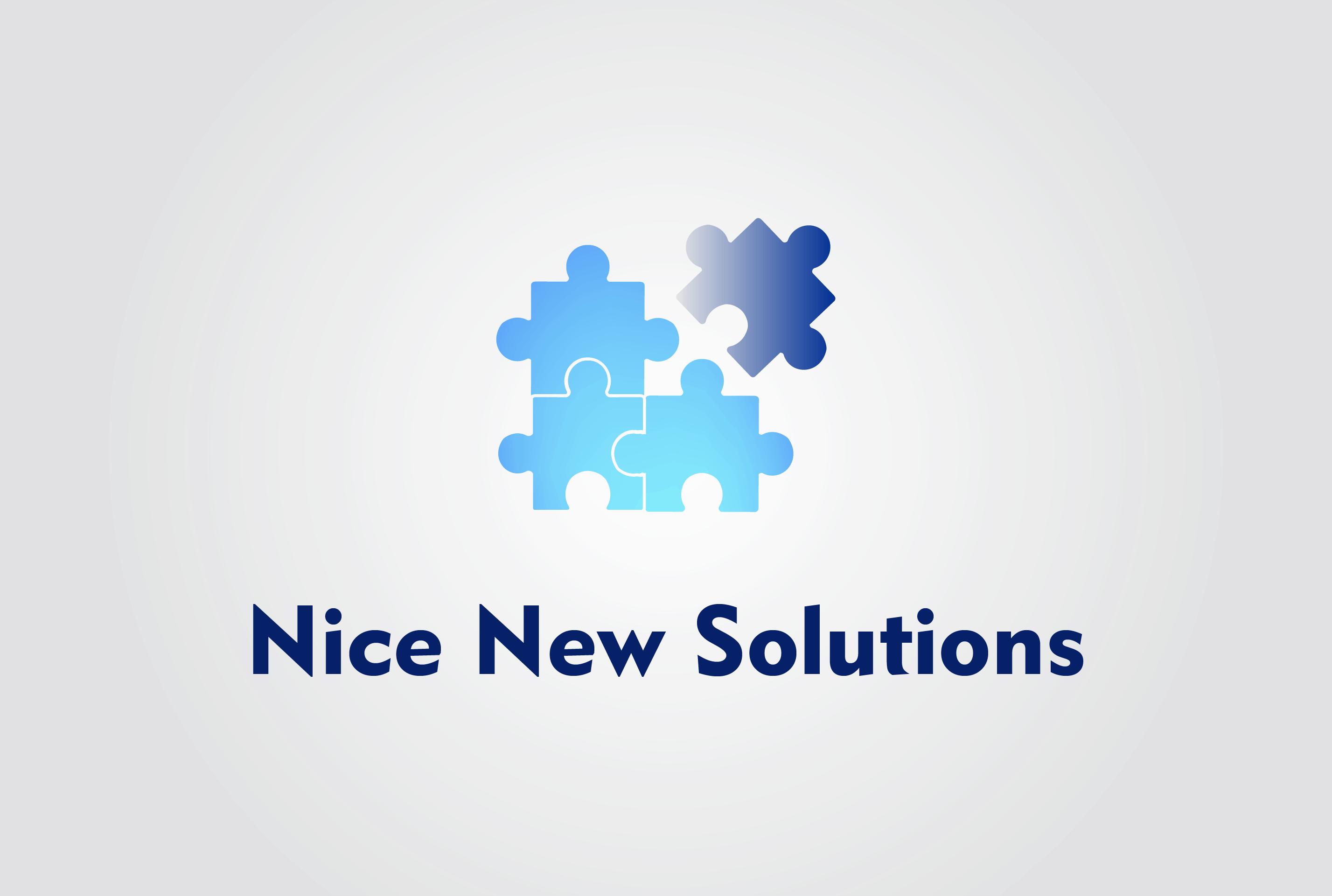 Logo til Nice New Solutions lavet af Dit Online Visitkort