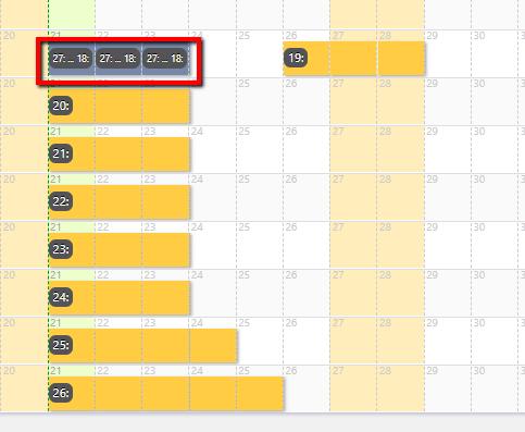 Sådan ser en fler-dages booking i billig WordPress hjemmeside lavet af Dit Online Visitkort