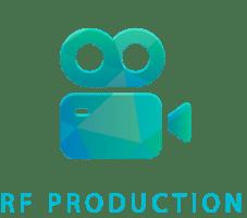 Logo til RF Production lavet af Dit Online Visitkort
