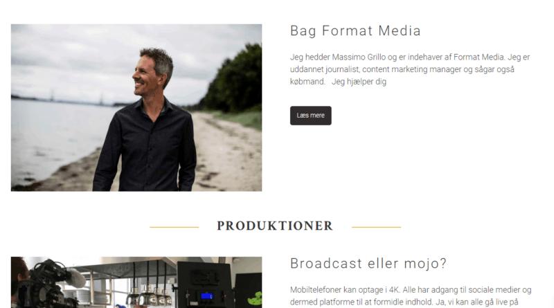 Billig Wordpress Hjemmeside til FormatMedia.dk lavet af Dit Online Visitkort