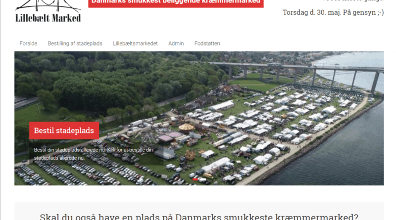 Billig Wordpress Hjemmeside til Danmarks smukkeste beliggende kræmmermarked - Lillebæltmarkedet lavet af Dit Online Visitkort