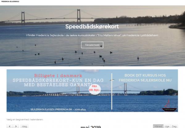Billig WordPress Hjemmeside til Fredericia Sejlerskole lavet af Dit Online Visitkort
